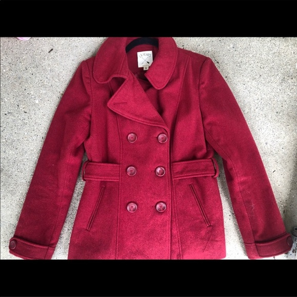 LA Hearts red coat size medium